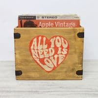 12 Inch Record Boxes Handcrafted Solid Wood Vinyl Crates.